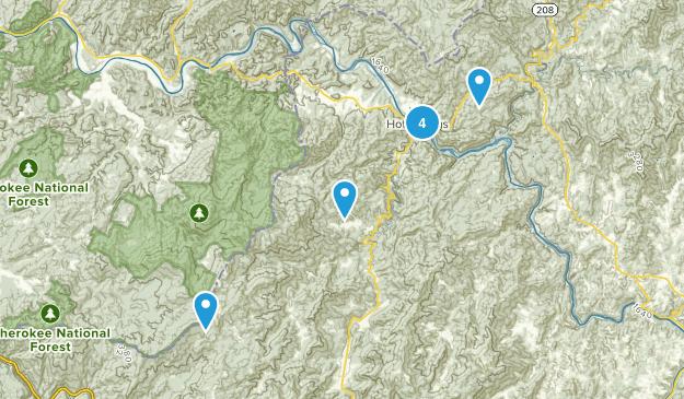 Hot Springs, North Carolina Birding Map