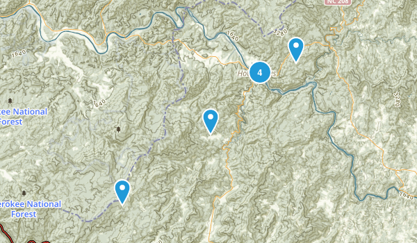 Hot Springs, North Carolina Nature Trips Map