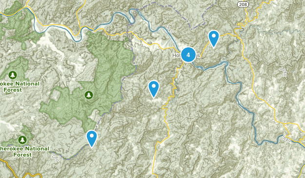 Hot Springs, North Carolina Nature Trips Map