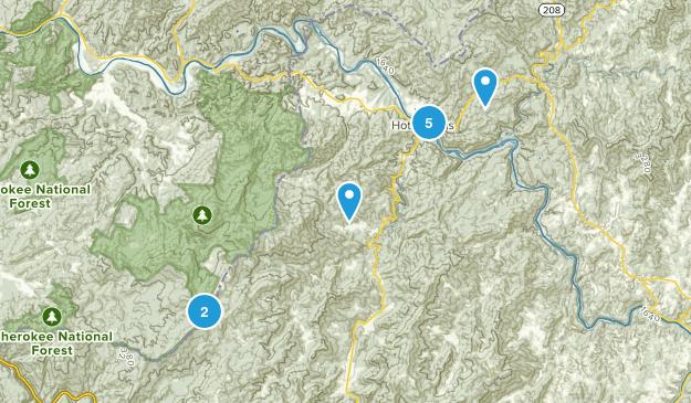 Hot Springs, North Carolina Views Map