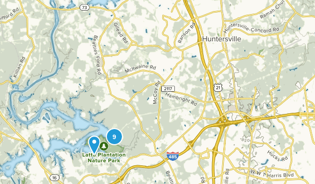 Huntersville, North Carolina Birding Map