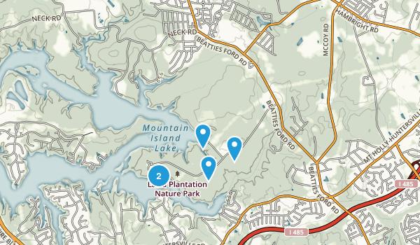Huntersville, North Carolina Forest Map