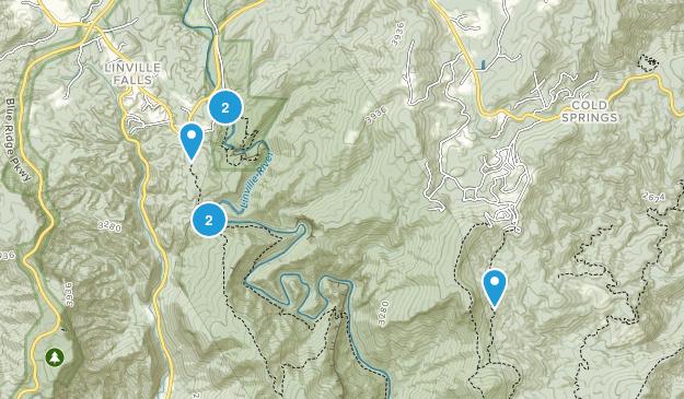Linville Falls, North Carolina Birding Map