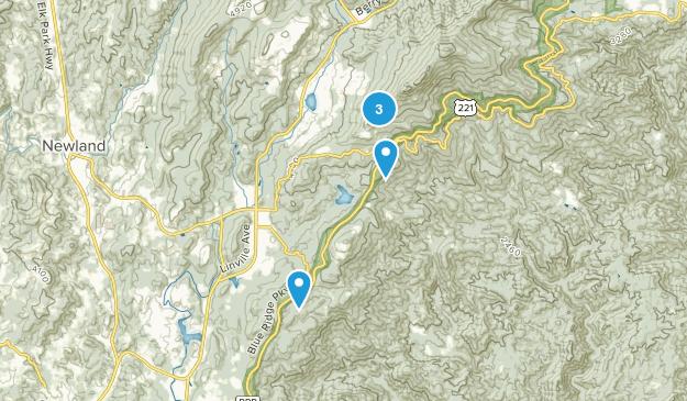 Linville, North Carolina Wildlife Map