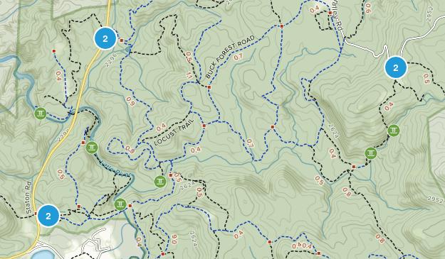 Marietta, North Carolina Hiking Map