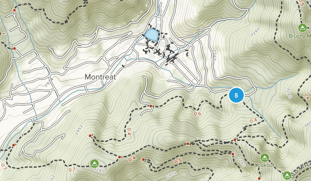 Montreat, North Carolina Hiking Map