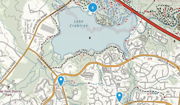 Morrisville, North Carolina Trail Running Map