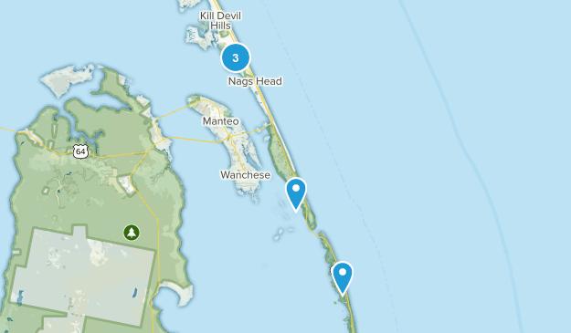 Nags Head, North Carolina Walking Map
