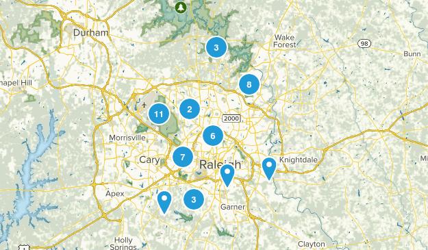 Raleigh, North Carolina Walking Map