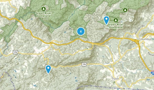 Saluda, North Carolina Nature Trips Map