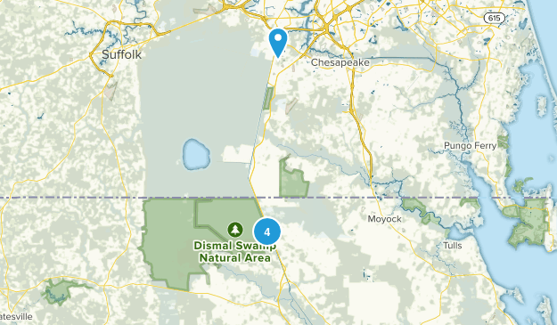 South Mills, North Carolina Birding Map