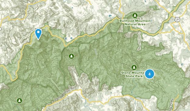 Traphill, North Carolina Kid Friendly Map