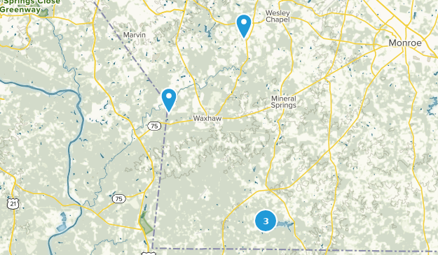 Waxhaw, North Carolina Hiking Map