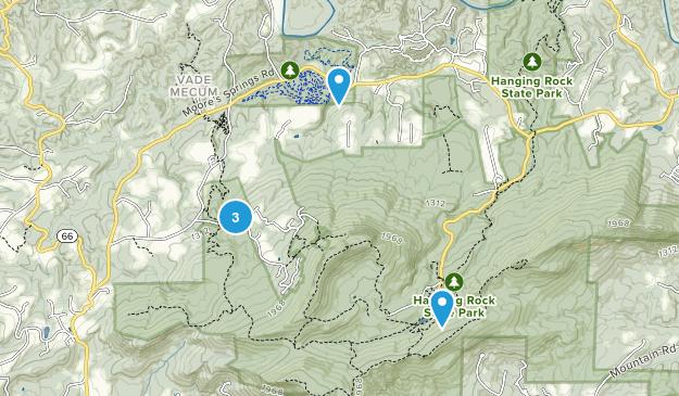 Westfield, North Carolina Forest Map