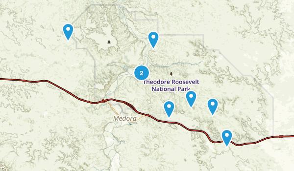 Fairfield, North Dakota Hiking Map