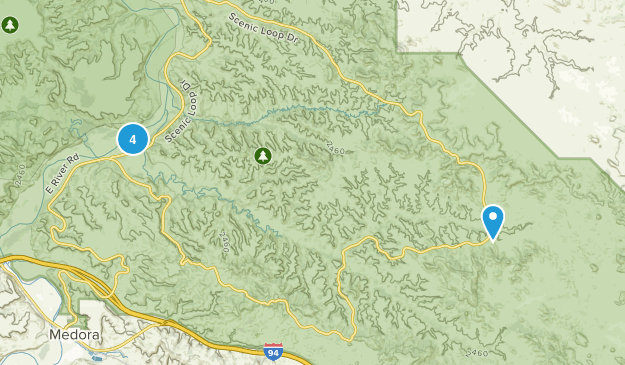 North Billings, North Dakota Nature Trips Map