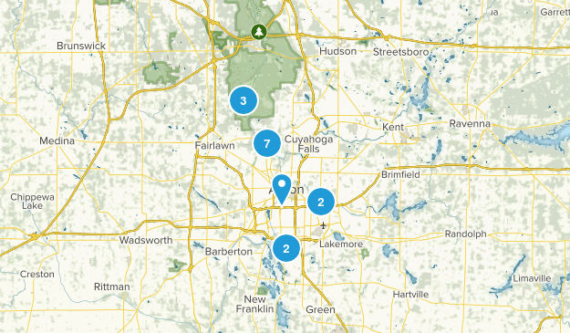 Akron, Ohio Birding Map