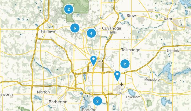 Akron, Ohio Trail Running Map