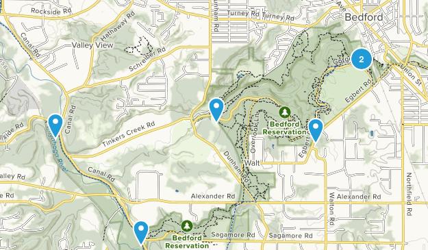 Bedford, Ohio Hiking Map