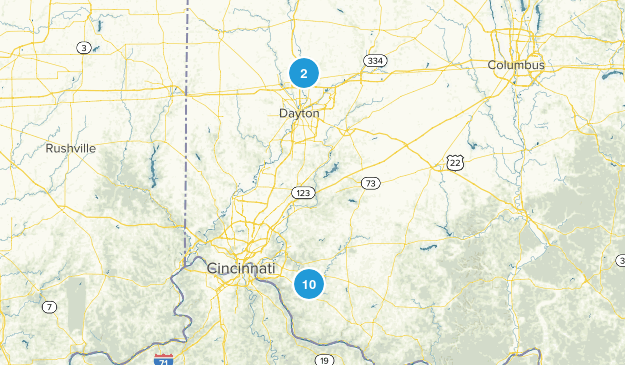 Bethel, Ohio Hiking Map