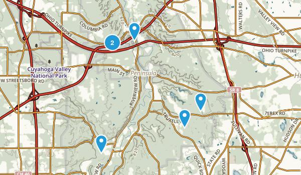 Boston, Ohio Walking Map