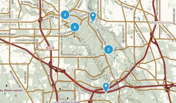 Brecksville, Ohio Trail Running Map
