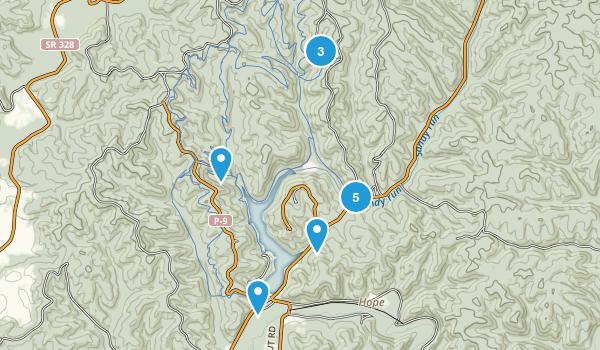 Brown, Ohio Hiking Map