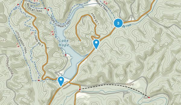 Brown, Ohio Trail Running Map