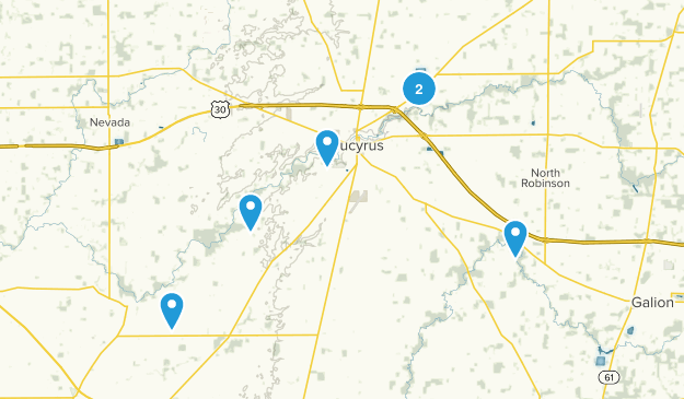 Bucyrus, Ohio Nature Trips Map