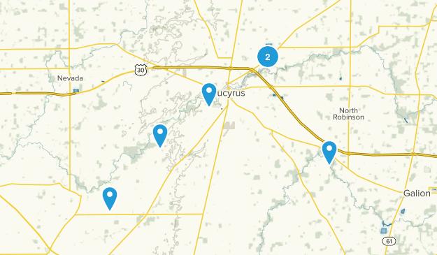 Bucyrus, Ohio Trail Running Map