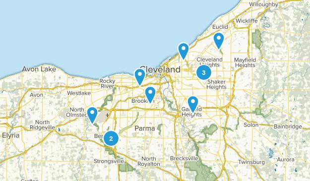 Cleveland, Ohio Hiking Map
