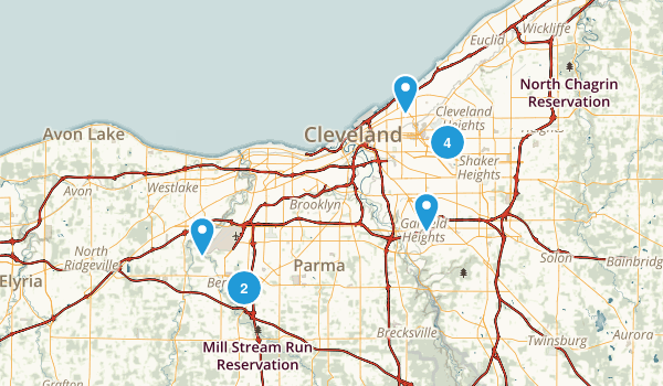 Best Kid Friendly Trails Near Cleveland Ohio Photos - Cleveland on us map