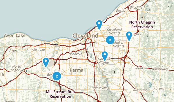Cleveland, Ohio Nature Trips Map