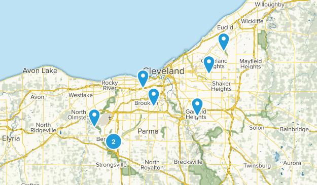 Cleveland, Ohio Trail Running Map