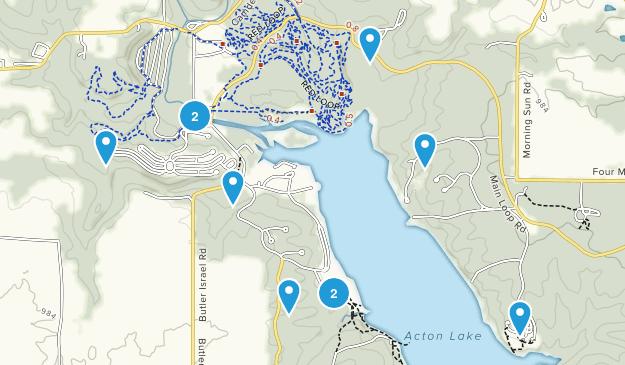 College Corner, Ohio Hiking Map