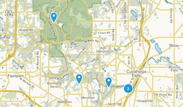 Cuyahoga Falls, Ohio River Map