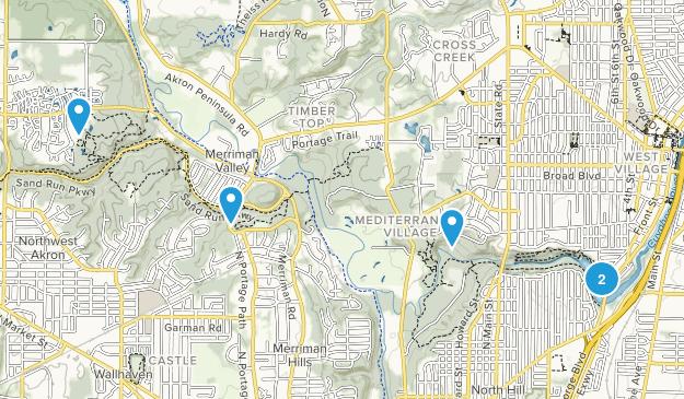 Cuyahoga Falls, Ohio Trail Running Map