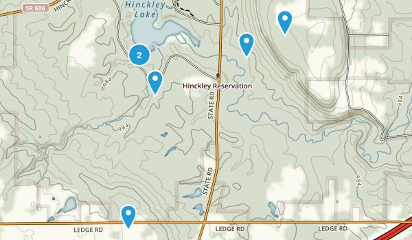 Hinckley, Ohio Birding Map