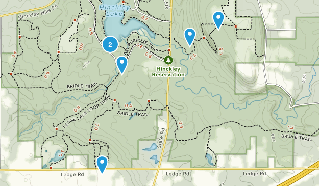 Hinckley, Ohio Nature Trips Map