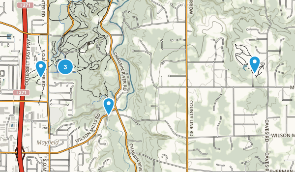 Mayfield, Ohio Trail Running Map