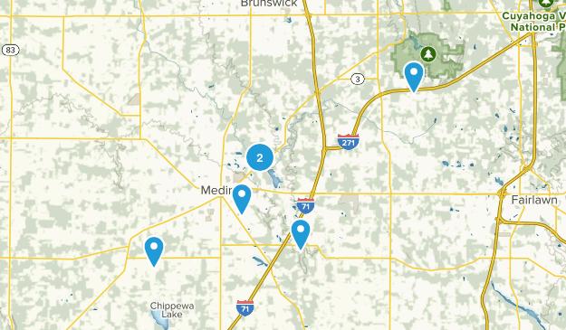 Medina, Ohio Wildlife Map