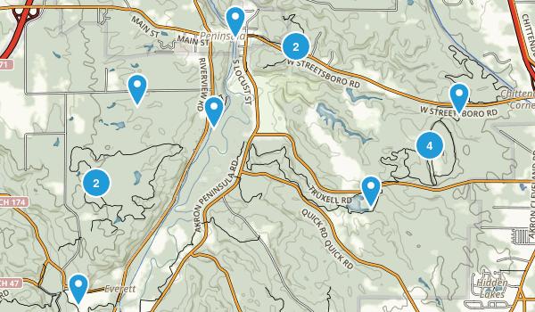 Peninsula, Ohio Birding Map