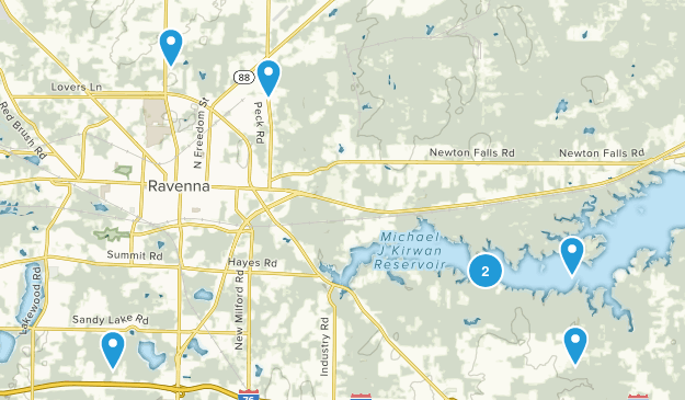 Ravenna, Ohio Hiking Map