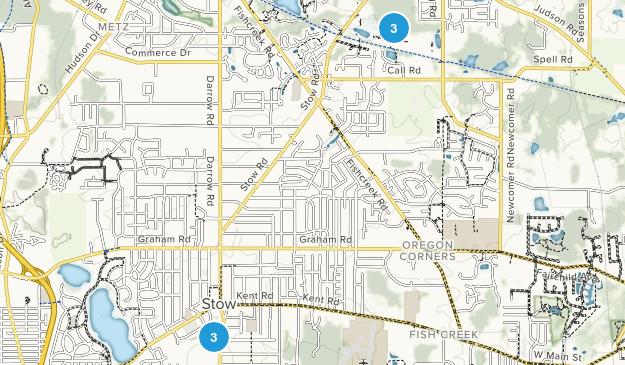 Stow, Ohio Hiking Map