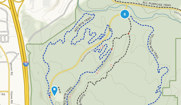 Strongsville, Ohio Trail Running Map