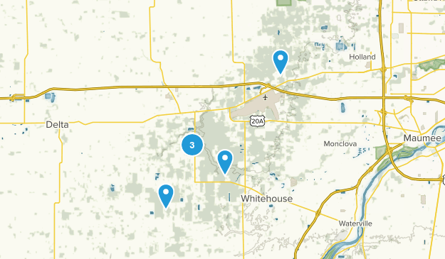 Swanton, Ohio Hiking Map
