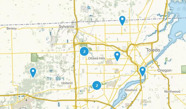 Toledo, Ohio Bird Watching Map