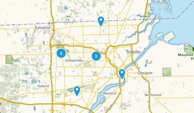 Toledo, Ohio Wild Flowers Map