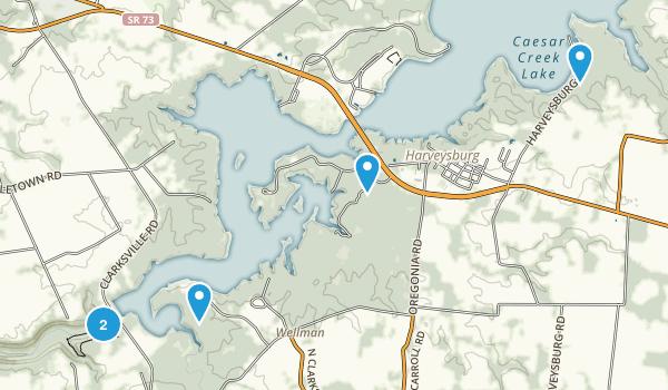 Waynesville, Ohio Dogs On Leash Map