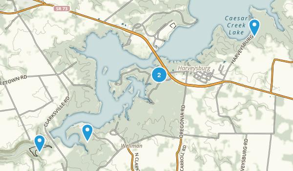Waynesville, Ohio Trail Running Map